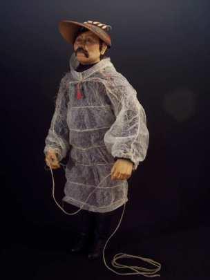 another version of Mikhail Snegirev in kamleika (gut raincoat)